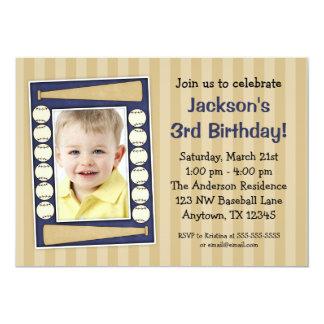 Azul de la fiesta de cumpleaños de la foto del invitación 12,7 x 17,8 cm
