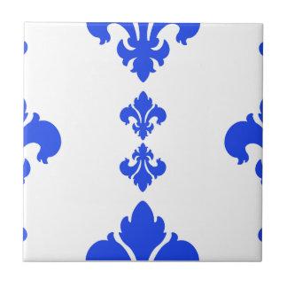 Azul de la flor de lis 3 teja