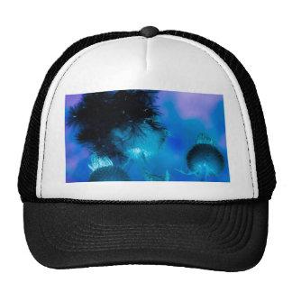 azul de la flor del efecto profundamente gorras
