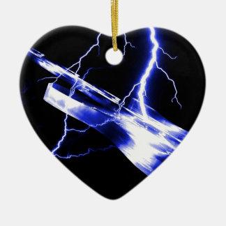 Azul de la guitarra eléctrica adornos de navidad