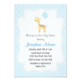Azul de la invitación de la fiesta de bienvenida