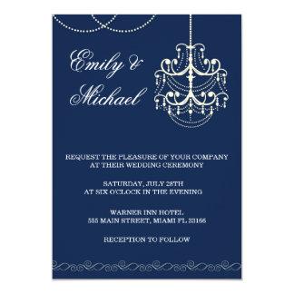 Azul de la invitación del boda de la lámpara