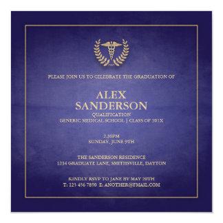 Azul de la invitación el | de la graduación de la