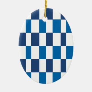 Azul de la pendiente adorno de cerámica