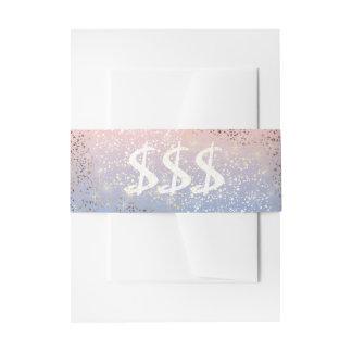 Azul de la serenidad del cuarzo color de rosa de cintas para invitaciones