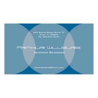 Azul de la tarjeta de visita del círculo de la