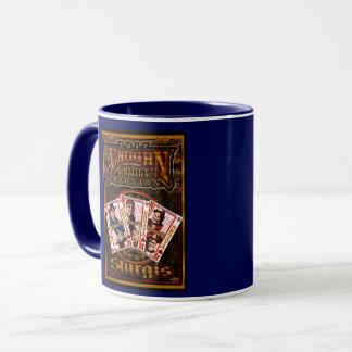 Azul de la taza de café de la reunión de Vaughn de