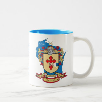 Azul de la taza de Crest_Wisconsin de la familia