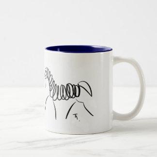 Azul de la taza del caballo del Dressage