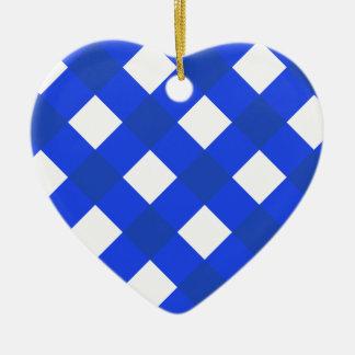 Azul de la tela escocesa 1 ornato