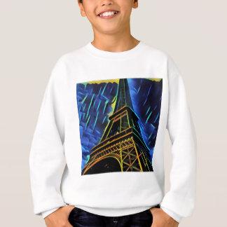 Azul de la torre Eiffel Sudadera