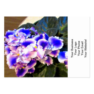 Azul de la violeta africana tarjetas de visita grandes