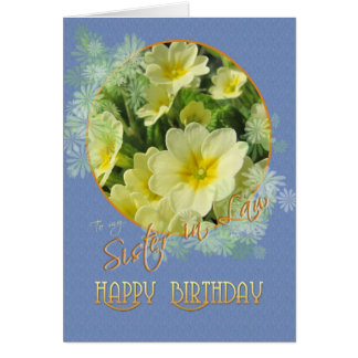 Azul de las primaveras del feliz cumpleaños de la tarjeta