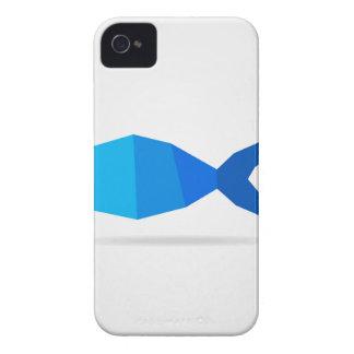Azul de los pescados funda para iPhone 4