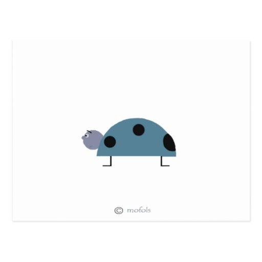 Azul de Mariquita Tarjeta Postal