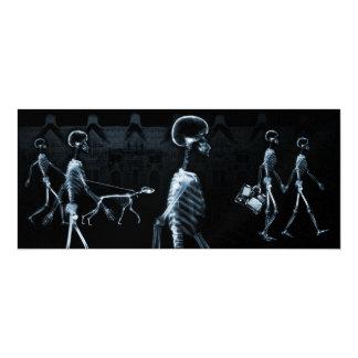 Azul de medianoche del negro del paseo de los invitación 10,1 x 23,5 cm