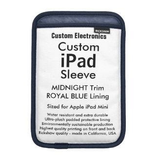 Azul de medianoche y real de la mini manga del fundas para iPad mini