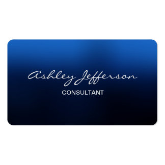 Azul de moda de la escritura elegante profesional tarjetas de visita