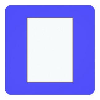 Azul de neón fluorescente brillante invitación 13,3 cm x 13,3cm