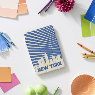 Azul de New York City Cover De iPad Mini