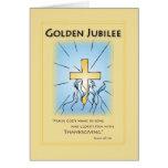 Azul de oro del jubileo 2680 con la cruz felicitaciones