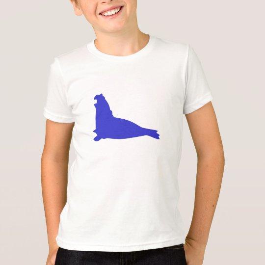 Azul de Palatinado de la camisa del sello de