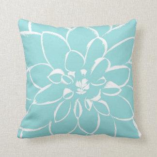 Azul de Shell el | de la lapa de la dalia Cojín Decorativo