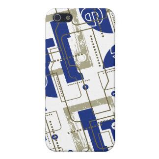 Azul de Techno en el blanco i iPhone 5 Cárcasa