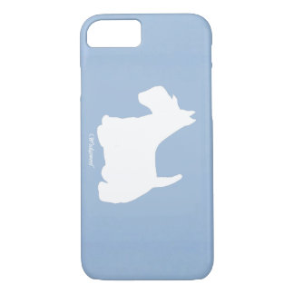 Azul de Terrier del escocés de Wedgewoof Funda iPhone 7