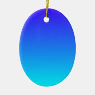 Azul de ultramar eléctrico a la pendiente ciánica ornaments para arbol de navidad