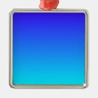 Azul de ultramar eléctrico a la pendiente ciánica adorno cuadrado plateado