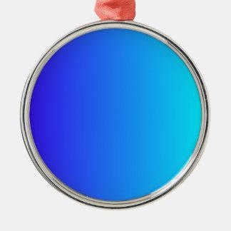 Azul de ultramar eléctrico a la pendiente ciánica adorno de navidad