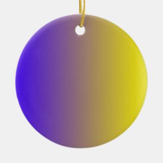 Azul de ultramar eléctrico a la pendiente de la adorno redondo de cerámica