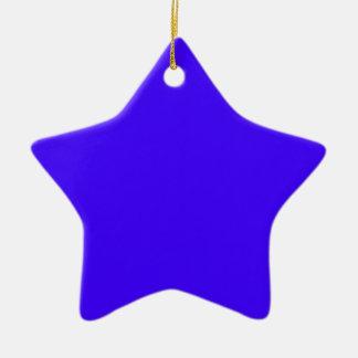Azul de ultramar eléctrico adorno de cerámica en forma de estrella