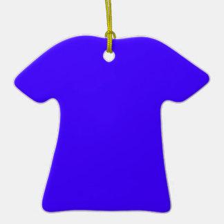 Azul de ultramar eléctrico adorno de cerámica en forma de camiseta
