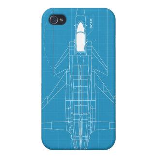 Azul del aeroplano iPhone 4 carcasa