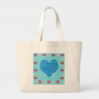 Azul del amor bolsas