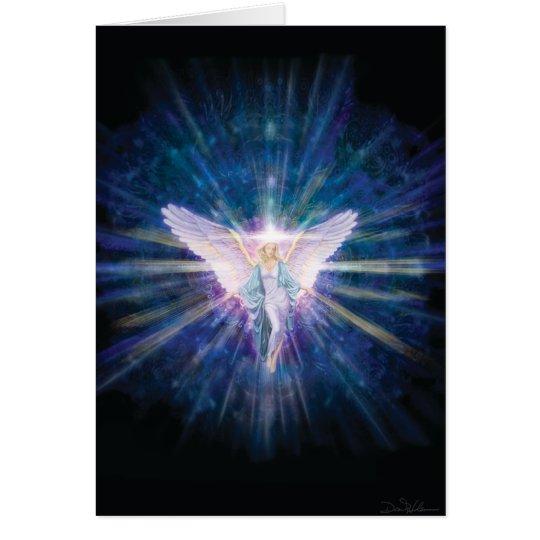 Azul del ángel 5 tarjeta de felicitación