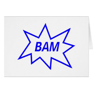 Azul del Bam Tarjeta De Felicitación