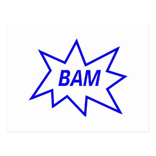 Azul del Bam Tarjetas Postales