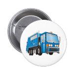 azul del camión de basura 3d pins