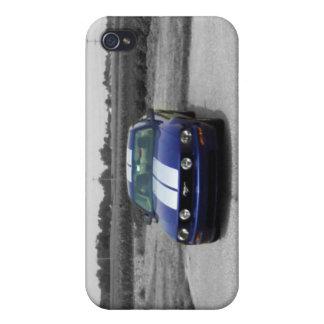 Azul del coche del músculo iPhone 4 protector