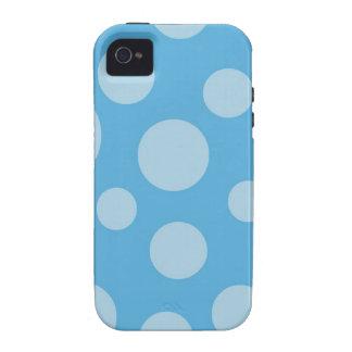 azul del color vibe iPhone 4 carcasas