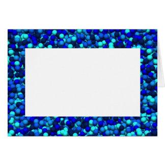 Azul del color tarjeta de felicitación