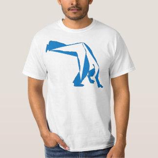 azul del compasso del capoeira de la camiseta