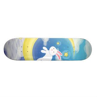 Azul del conejito de la luna patines personalizados