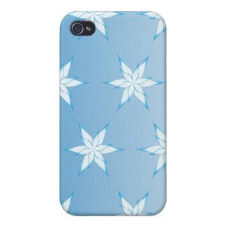 azul del copo de nieve iPhone 4 protector