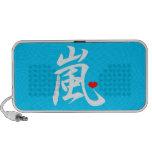azul del corazón del kawaii del arashi iPod altavoces