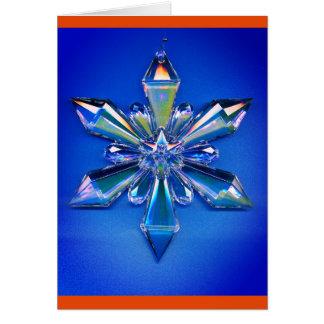 Azul del día de fiesta del navidad del ornamento tarjeta pequeña