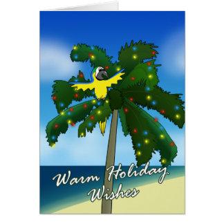 Azul del dibujo animado y tarjeta de Navidad del